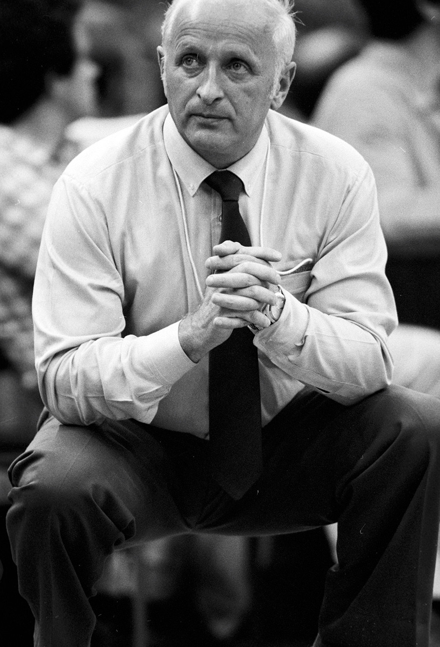 Alexander Gomelsky, senior coach of the Soviet Olympic basketball team.