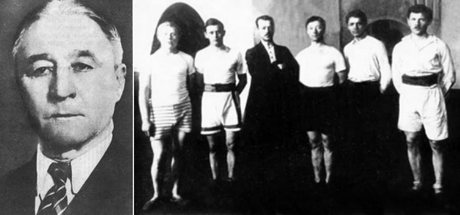 Степан Василиевич Василев, баща на съветския баскетбол; Първи баскетболен отбор, 1906 г.