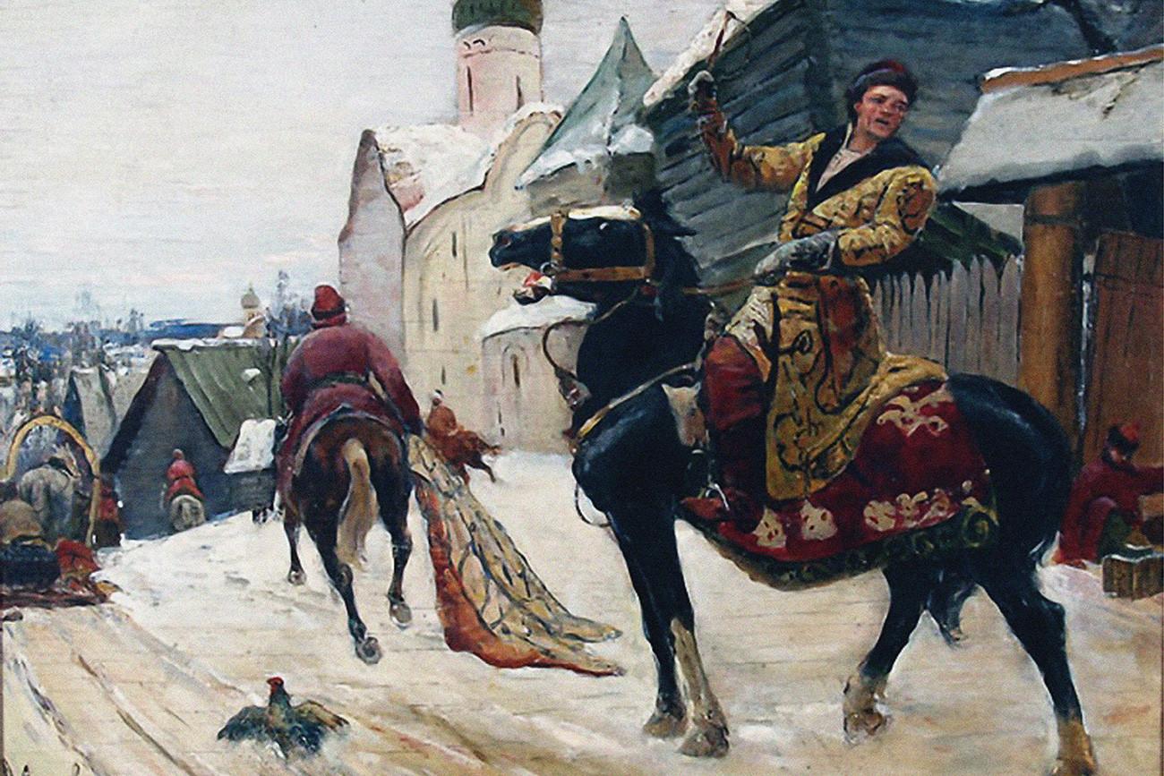 Opritschniki in Nowgorod von Michail Awilow