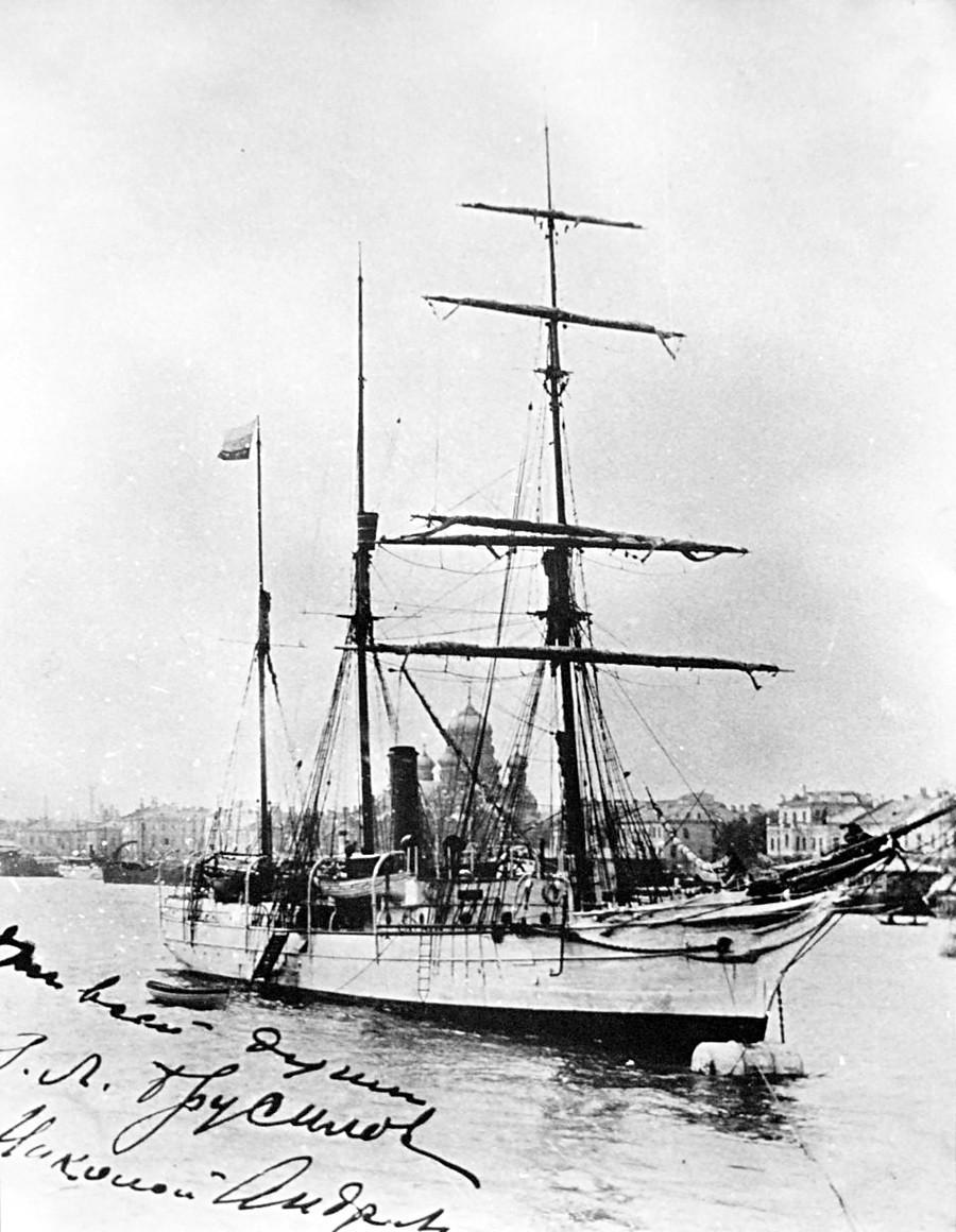 """A embarcação """"Santa Anna""""."""