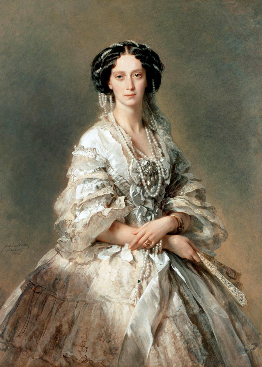 Imperatriz Maria Aleksandrovna da Rússia (mulher de Aleksandr 2º), de Franz Xavier Winterhalter, 1857