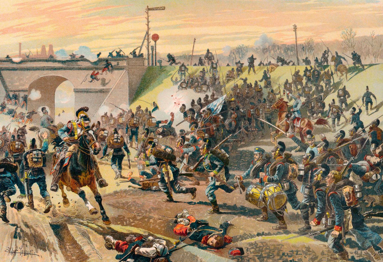 Ataque nos arredores de Orleans em 11 de outubro de 1870, na Guerra Franco-Prussiana