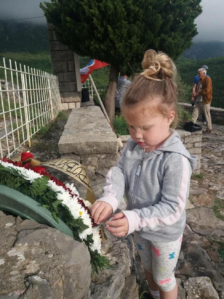 Четворогодишња Марија Грацун на Челобрду