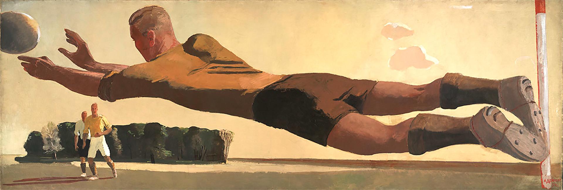 'Goalkeeper' (1934) oleh Alexander Deineka