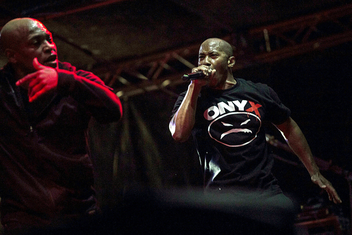 Onyx hip-hop band during Warsaw Challenge festival in Warsaw on May 15, 2017.
