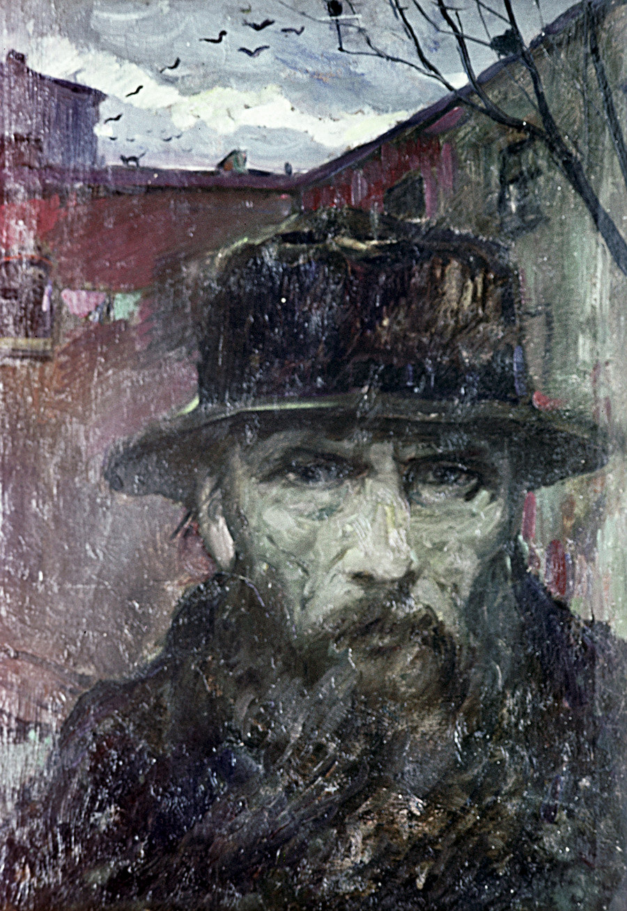 Reproduction of the Fyodor M. Dostoevsky painting by Ilya Glazunov.