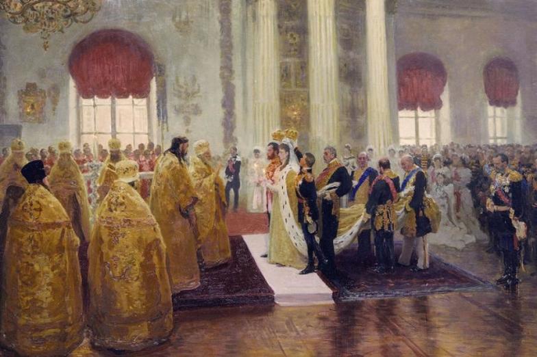 Tudi Ilja Repin, mojster zgodovinskih slik, ni mogel mimo poroke.