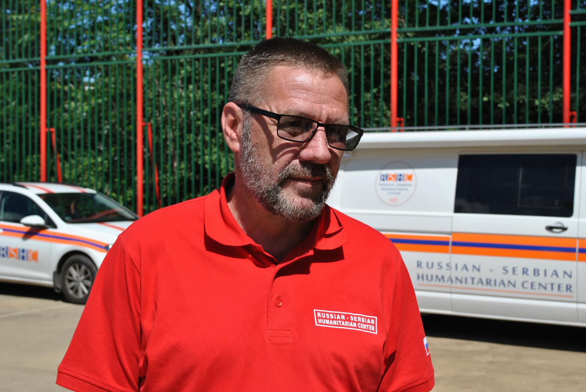 Олег Ганијев, заменик директора Српско-руског хуманитарног центра