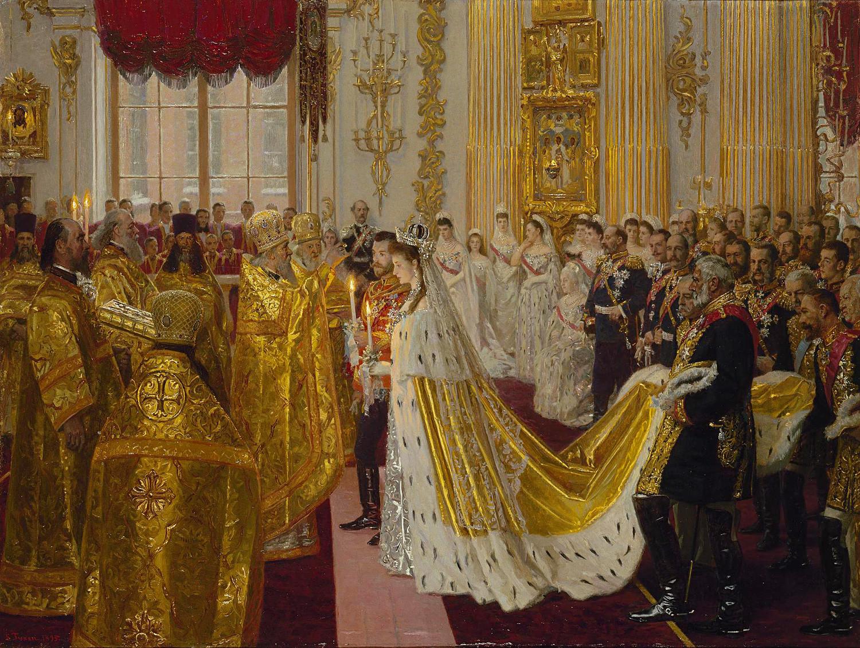 "Лориц Туксен ""Венчање цара Николаја Другог и принцезе Александре Фјодоровне"