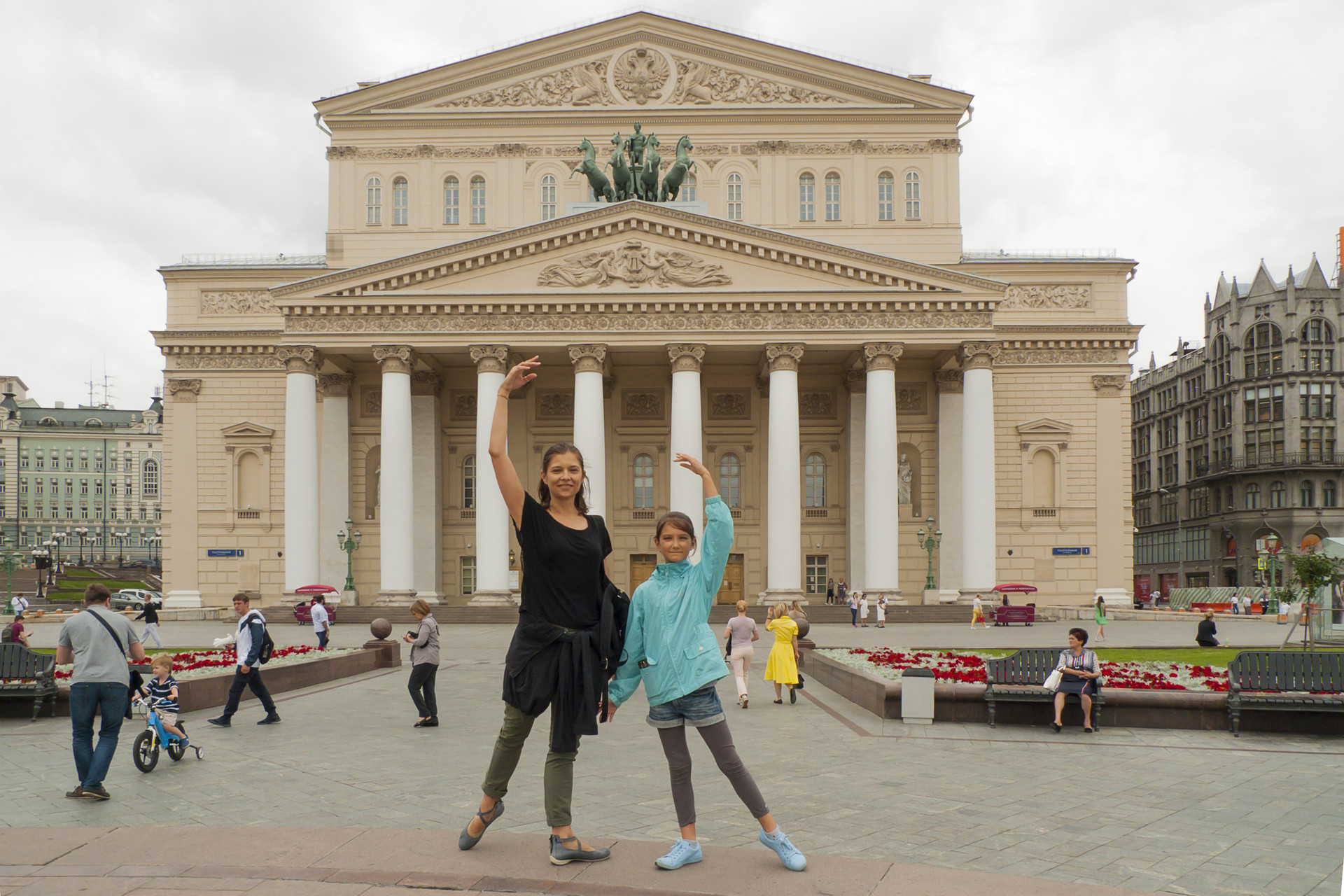 Galina Čajka s hčerko.