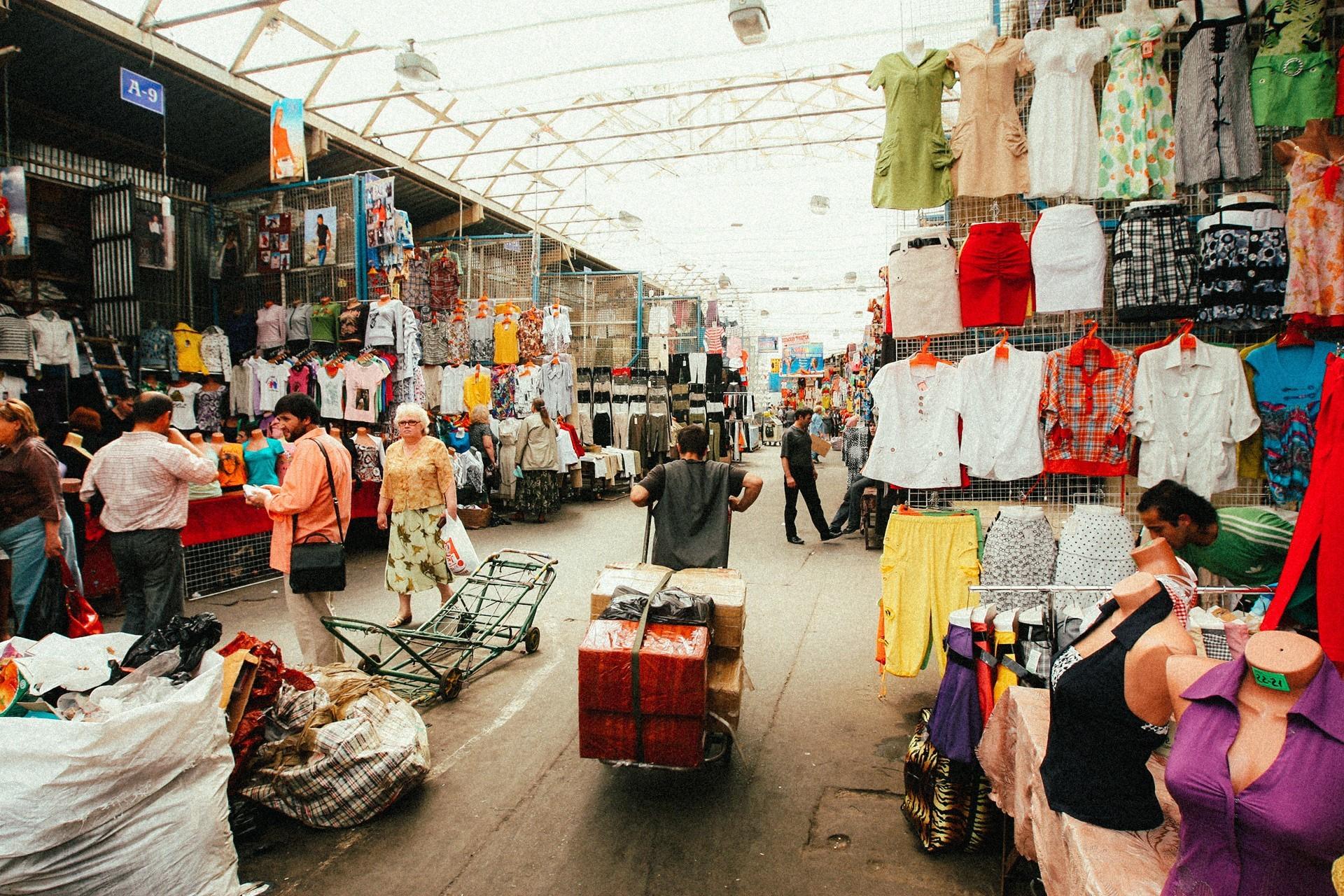 Prodajalna oblačil na tržnici Čerkizovski
