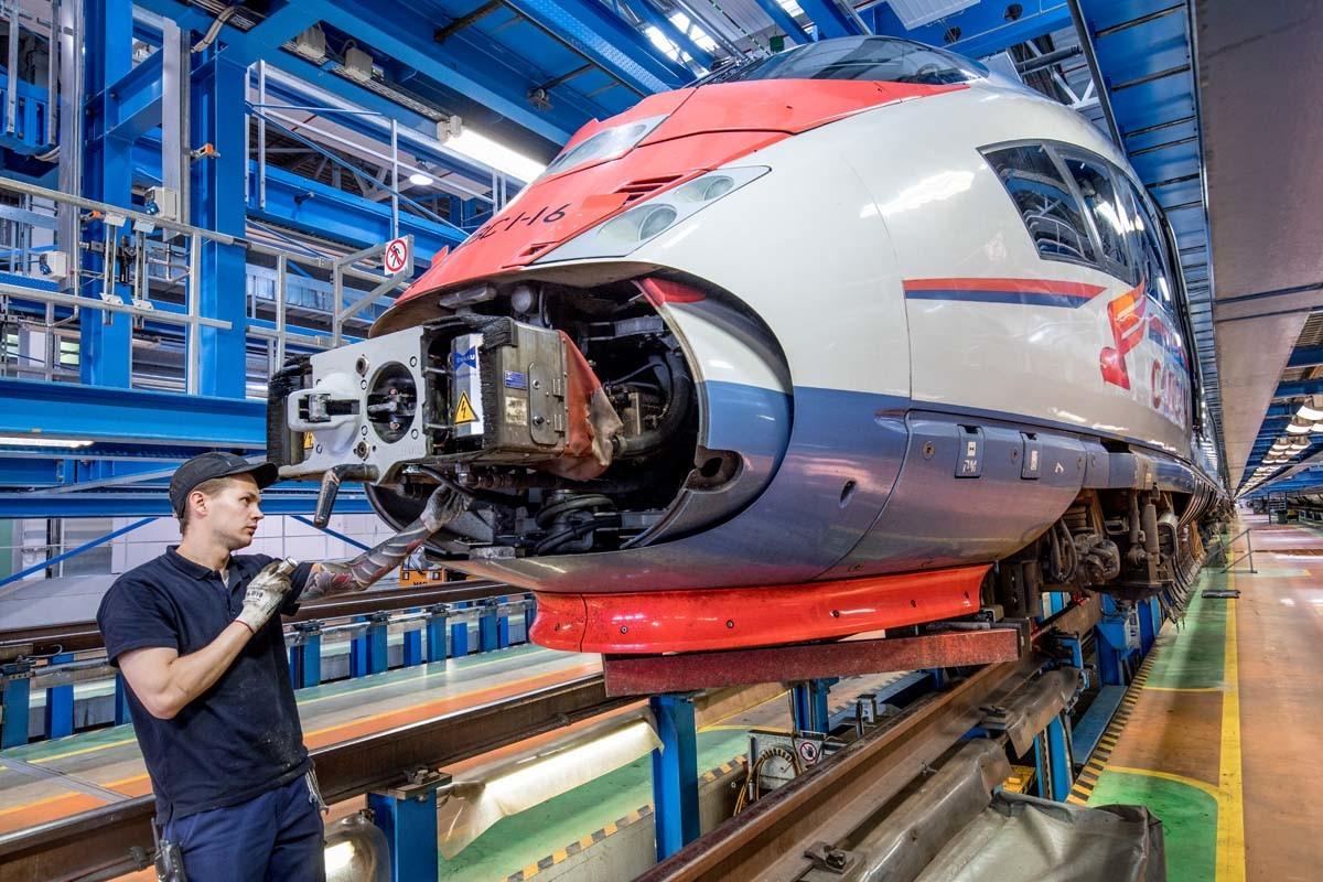 Siemens: Der russische Hochgeschwindigkeitszug Sapsan im Werk