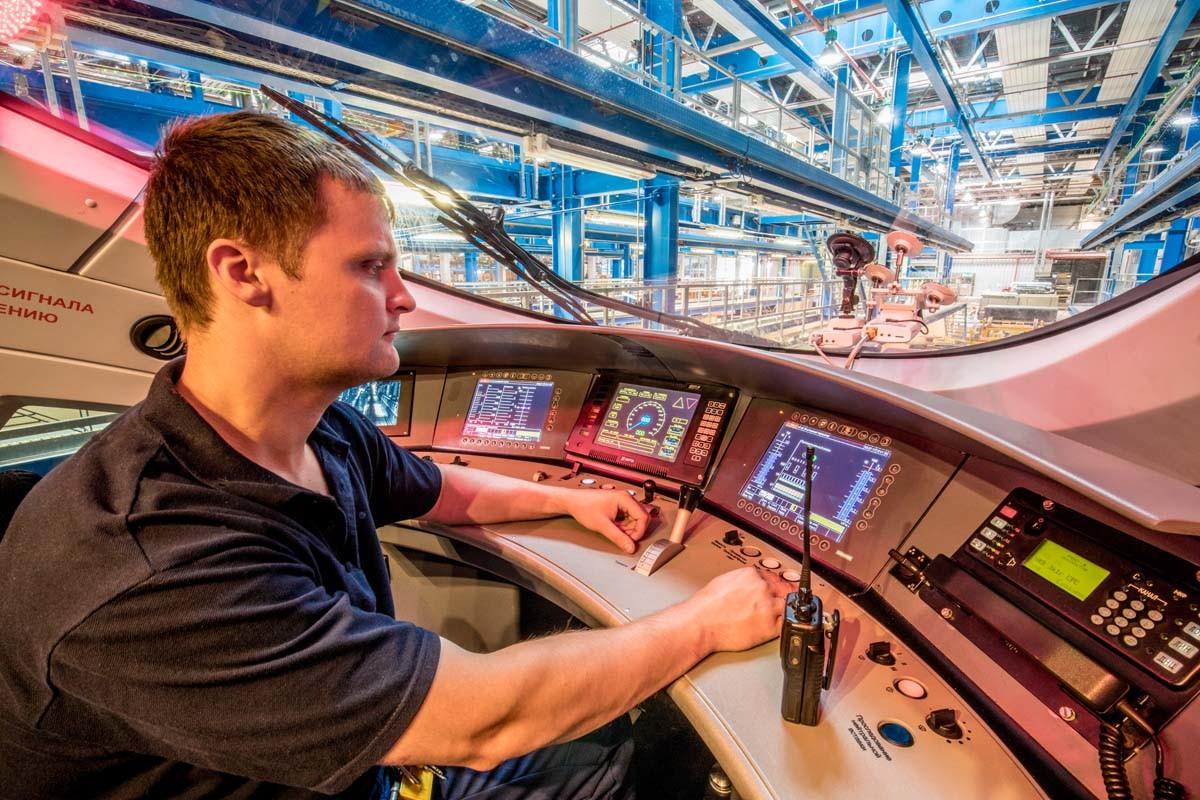 Siemens: Im Lokführerraums des