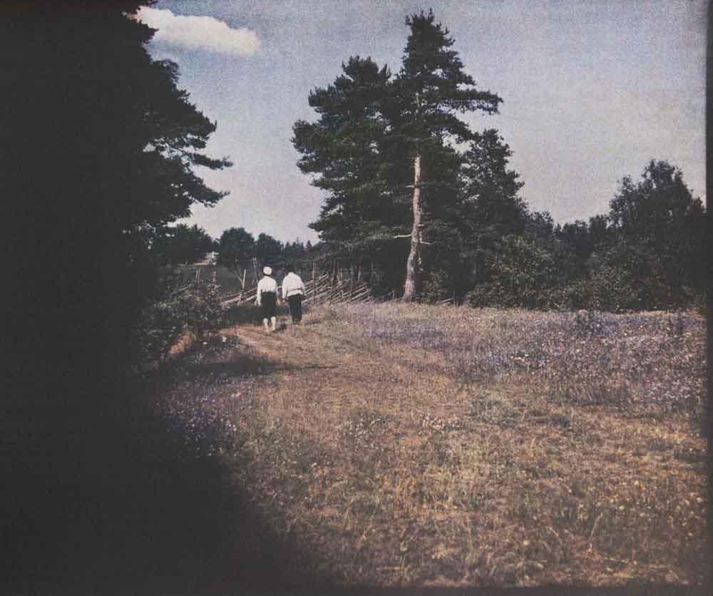 Andrejew  genoss das ländliche Leben und verbrachte viel Zeit auf dem Land.