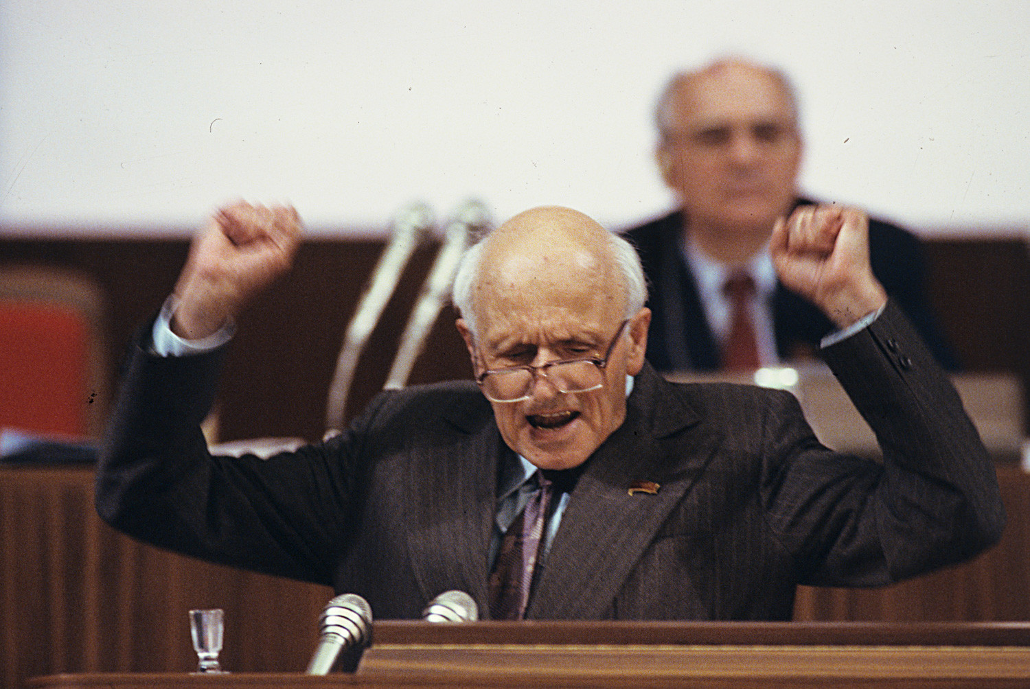 Andrei Sakharov at a congress of People's Deputies of the U.S.S.R. (1989)