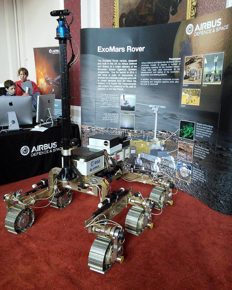 Prototip roverja ExoMars na Festivalu znanosti v Cambridgeu 2015.