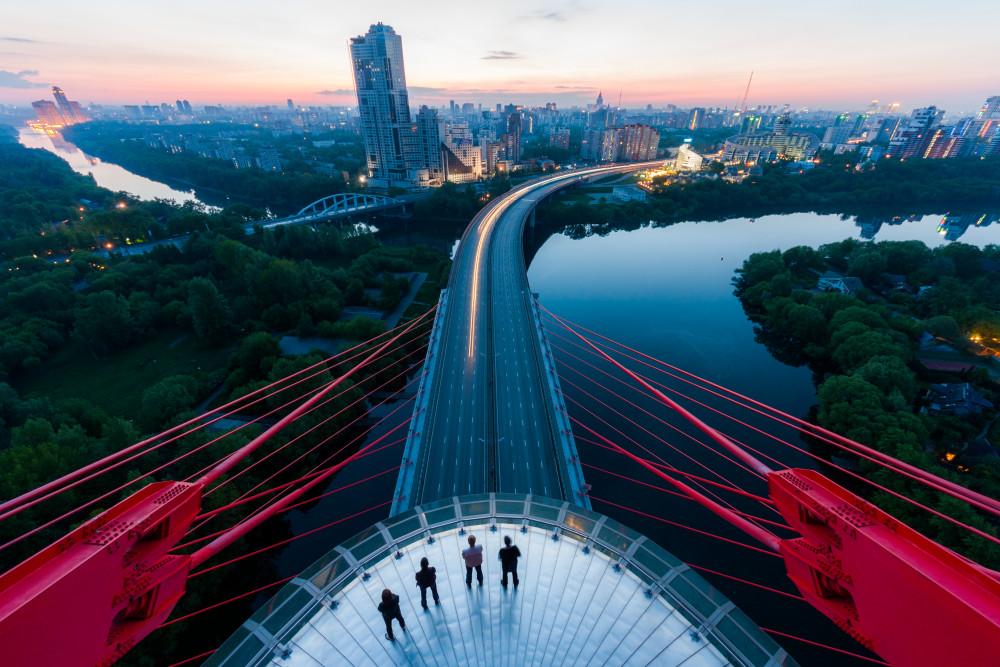 Puente Zhivopisni, Moscú.