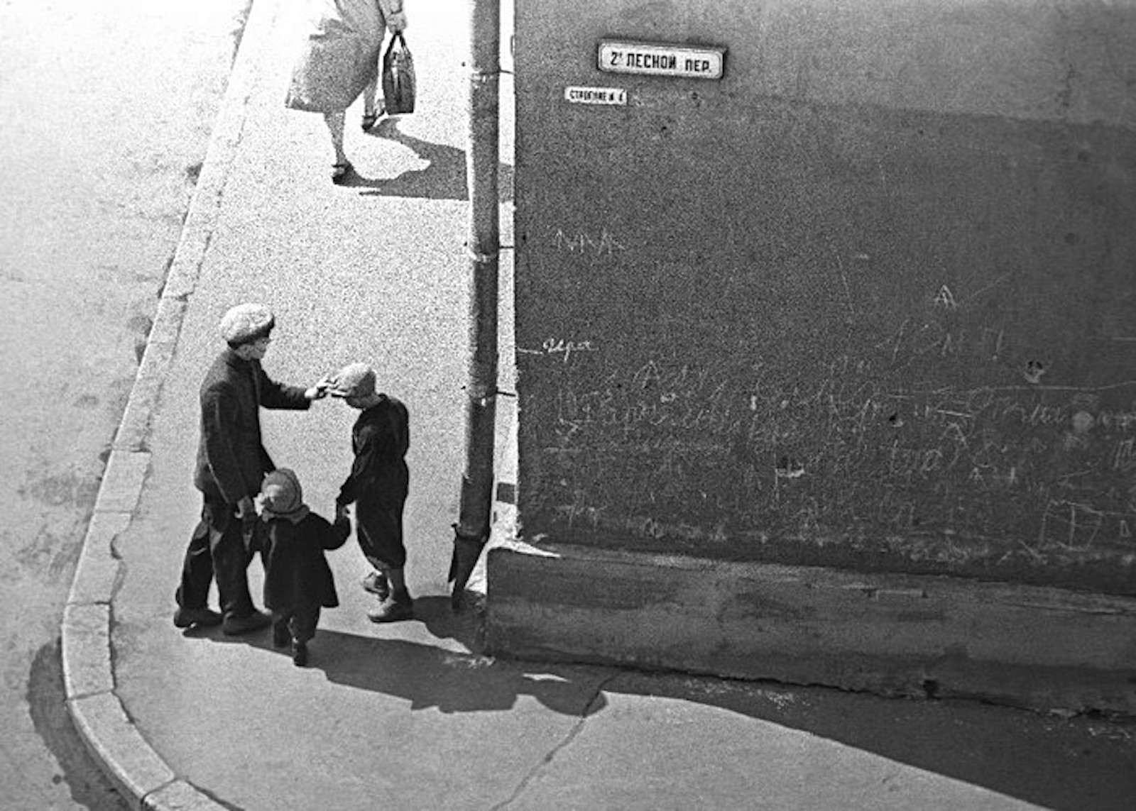 En la esquina. 2º Lesnói pereúlok, 1958.