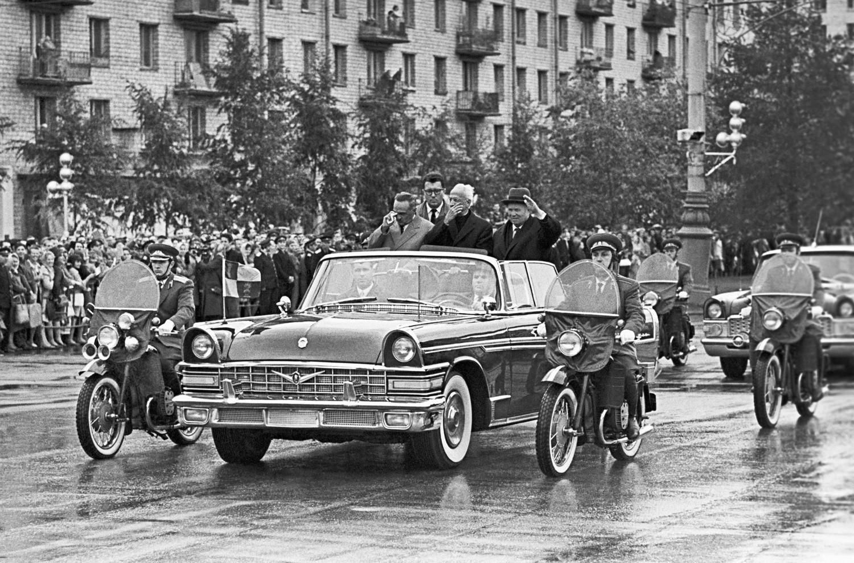 Nikita Hruščov i indijski predsjednik Sarvepalli Radhakrishnan