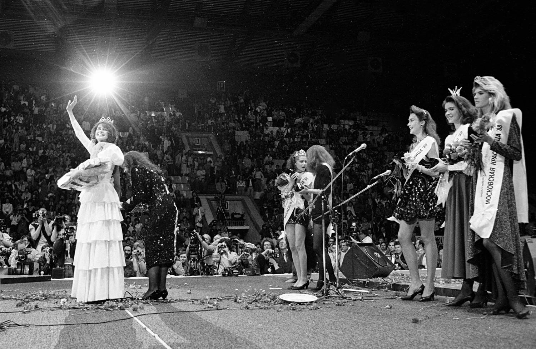 Participantes do primeiro concurso Beleza de Moscou -88