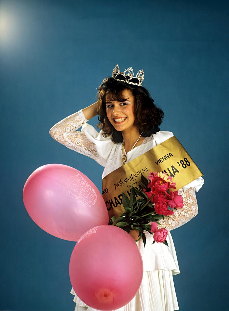 Maria Kalinina, vencedora do concurso Moscou Beleza-88