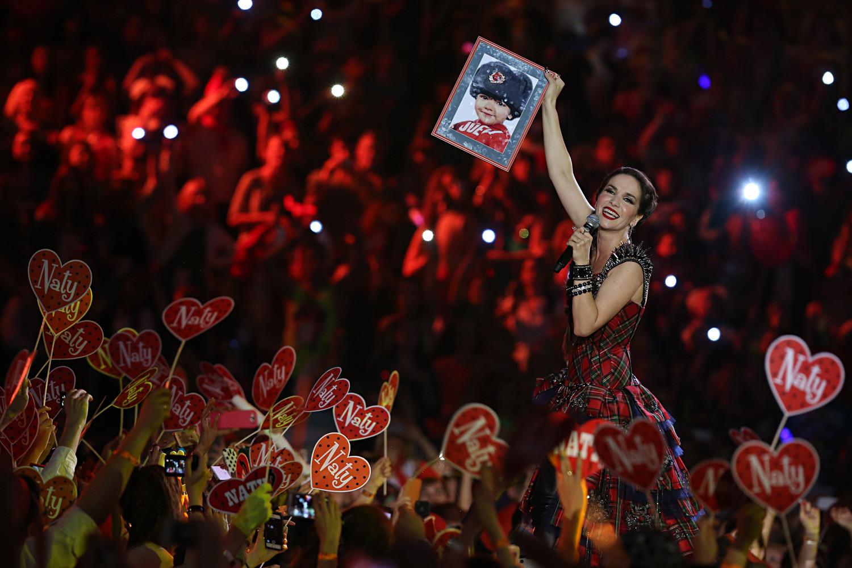 "Natalia Oreiro di konser ""90s Superdisco"", Stadion Olimpiade Moskow."