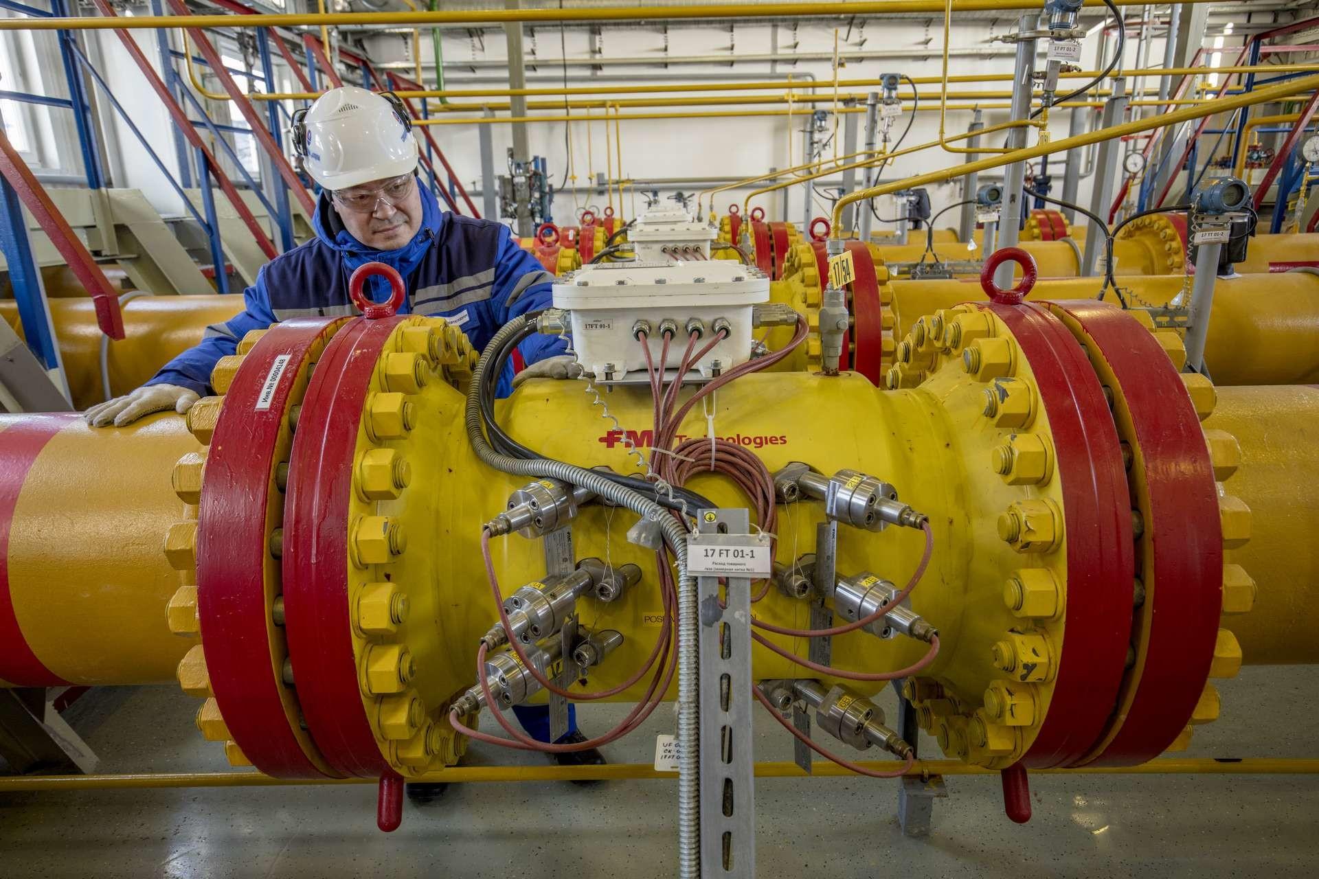 Das Gasfeld Juschno Russkoje verfügt über förderbare Reserven von mehr als sechshundert Milliarden Kubikmeter Erdgas.