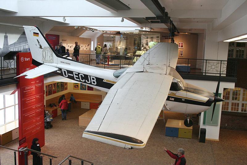 Rustova Cessna F172P z registrsko oznako D-ECJB v nemškem tehničnem muzeju v Berlinu