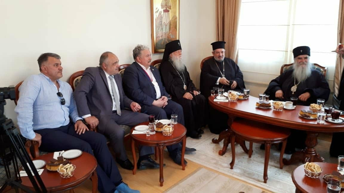 Сергеј Бабурин на пријему код митрополита Амфилохија