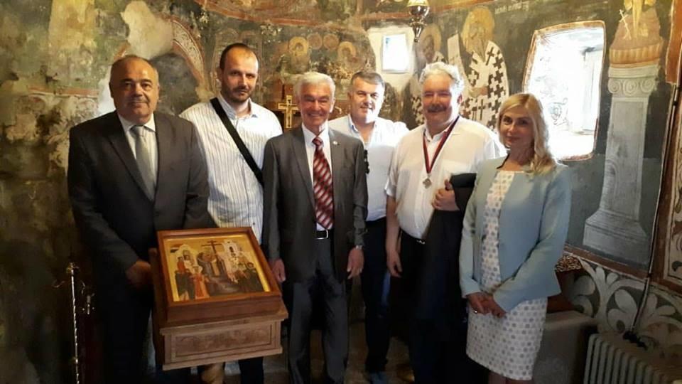 Сергеј Бабурин у посети манастиру Острог