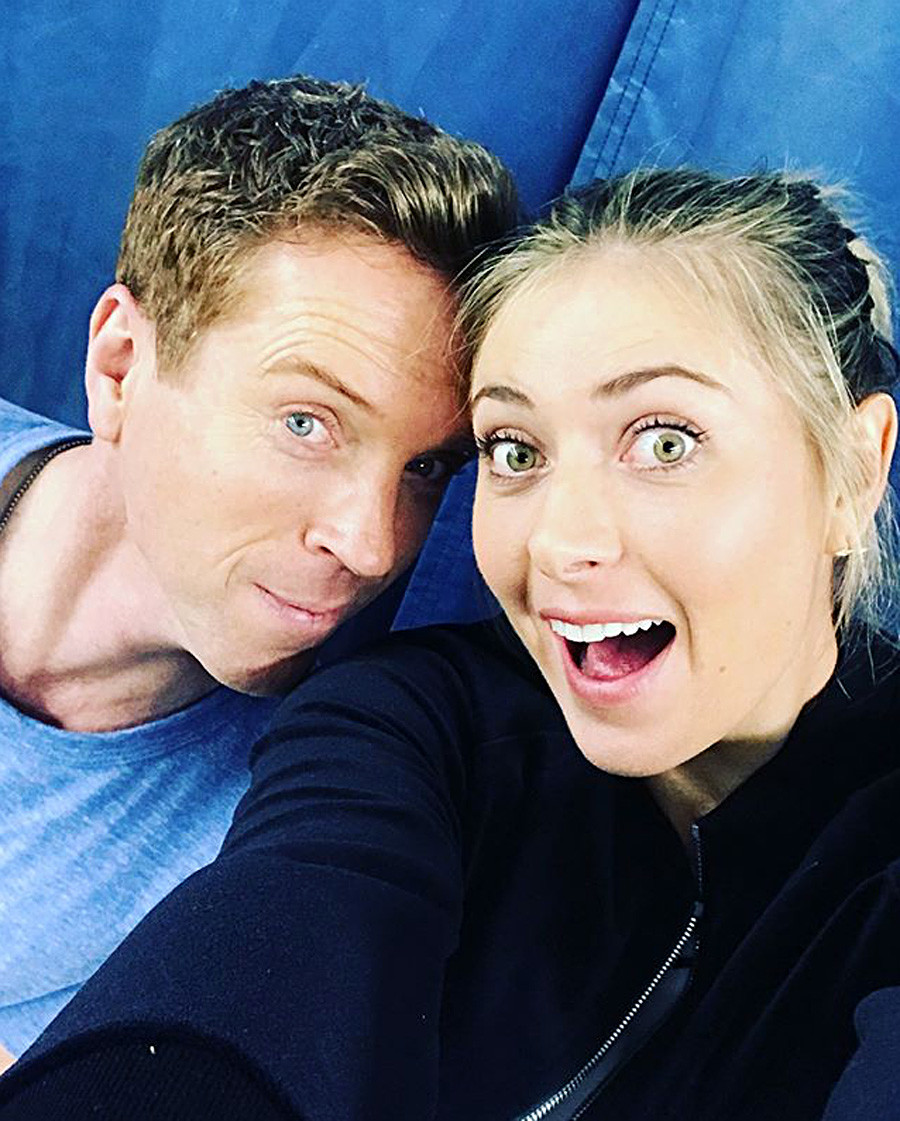 British actor Damien Lewis with Russian tennis star Maria Sharapova