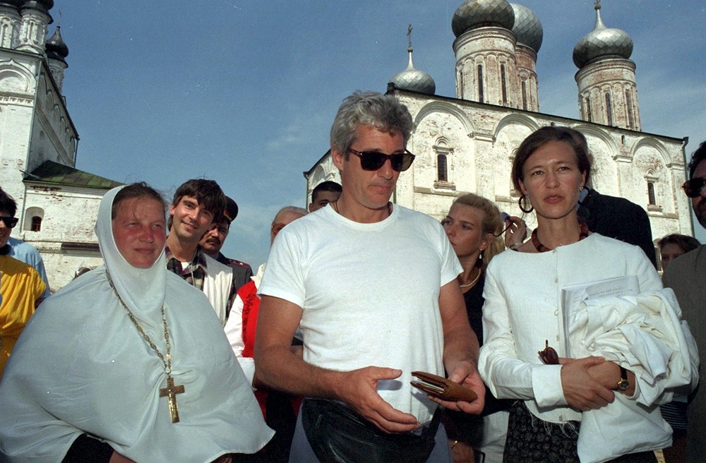 """Once again, like with Pushkin, he [Richard Gere] went nuts, simply insane over Russian icons"