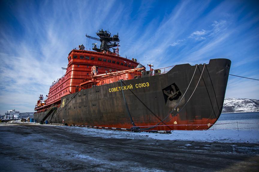 Jedrski ledolomilec služi ruski vojni mornarici že od leta 1989.