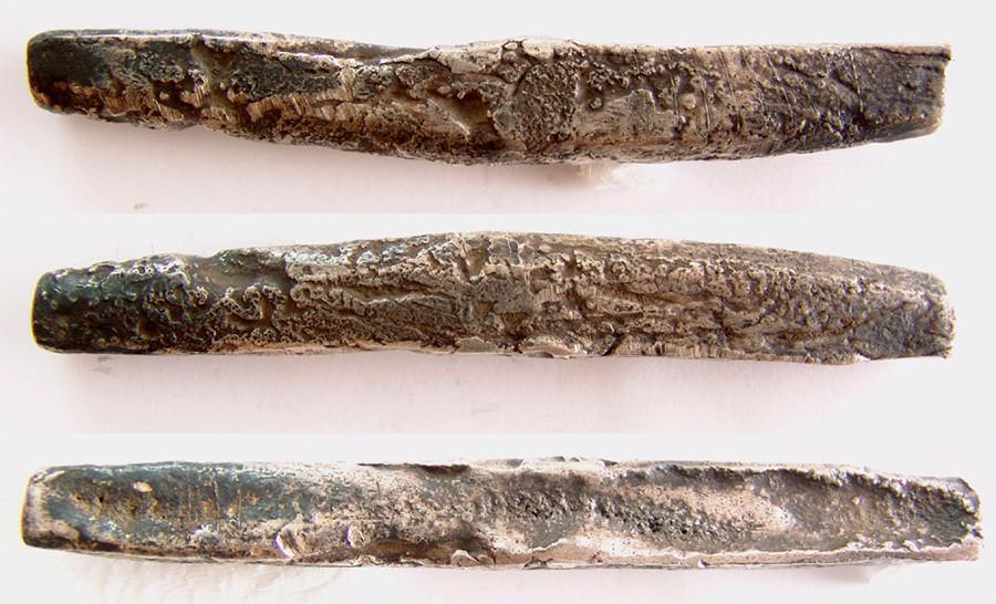 A silver stick ruble