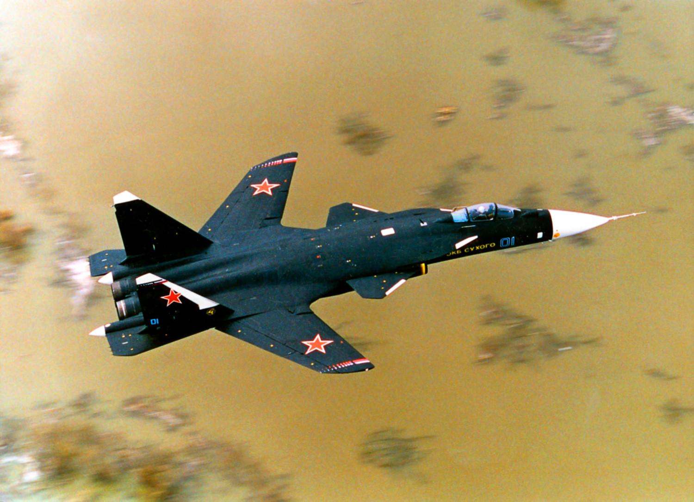 """Сухој Су-47 """"Беркут"""", ловачки авион и експериментална летећа лабораторија."""