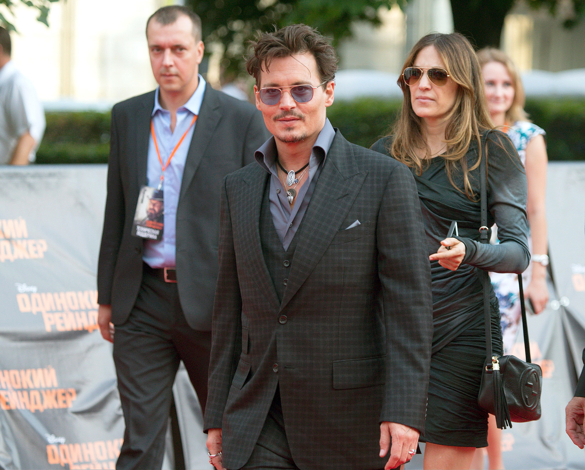 Johnny Depp at the Moscow premiere of