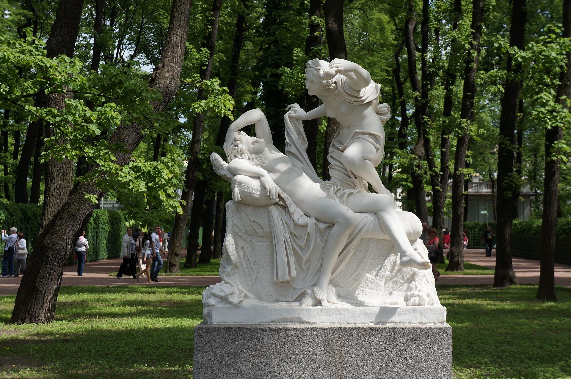 Amor in Psiheja, delo neznanega italijanskega kiparja, 18. stoletje.