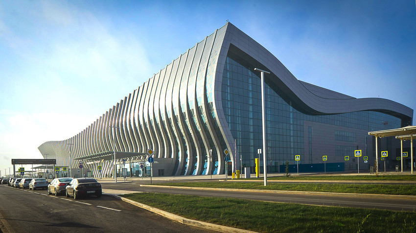 Bandara Simferopol di Krimea.