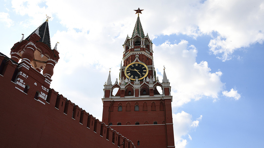 Torre Spasskaya, no Kremlin