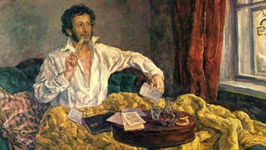 Puškin v Mihajlovskem.
