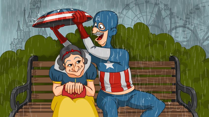 Putri Salju dan Kapten Amerika.