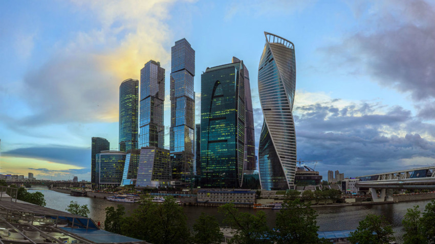 Quartier d'affaires Moscow-City, image d'illustration