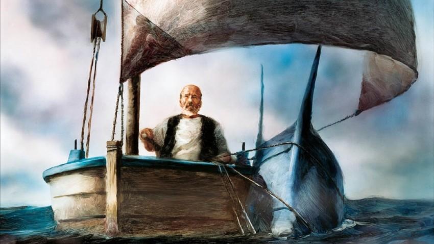 """Cena da animação """"O Velho e o Mar"""" (1999), de Alexander Petrov"""