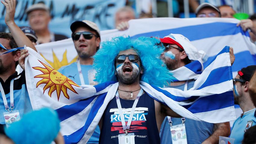 Навивачи на Уругвај во Русија