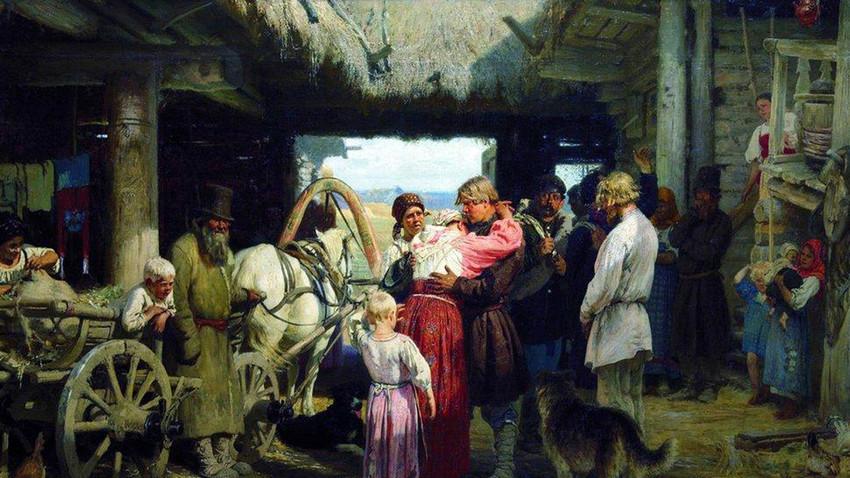 Abschied von einem Rekruten, Ilja Repin, 1879