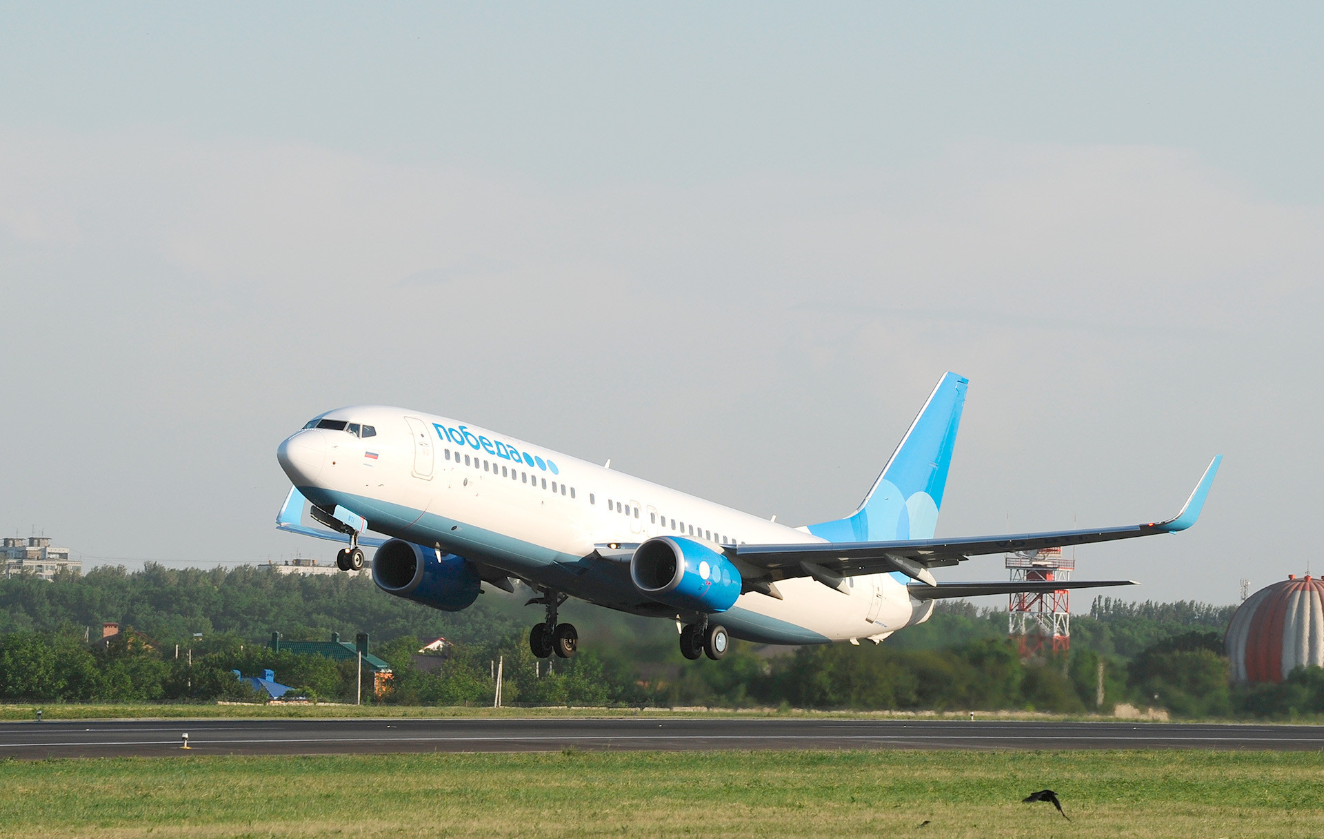 A Rússia tem apenas uma companhia aérea de baixo custo doméstica.