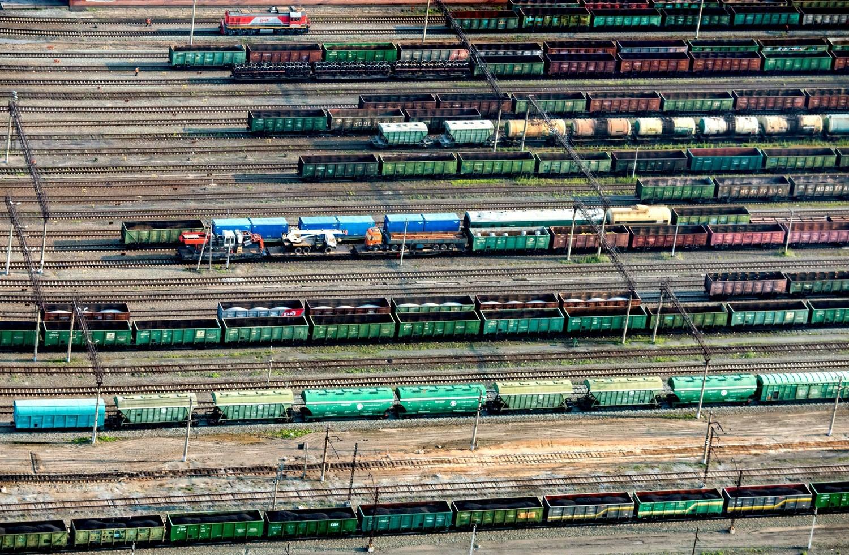 Trecho da Ferrovia Transiberiana na região de Omsk