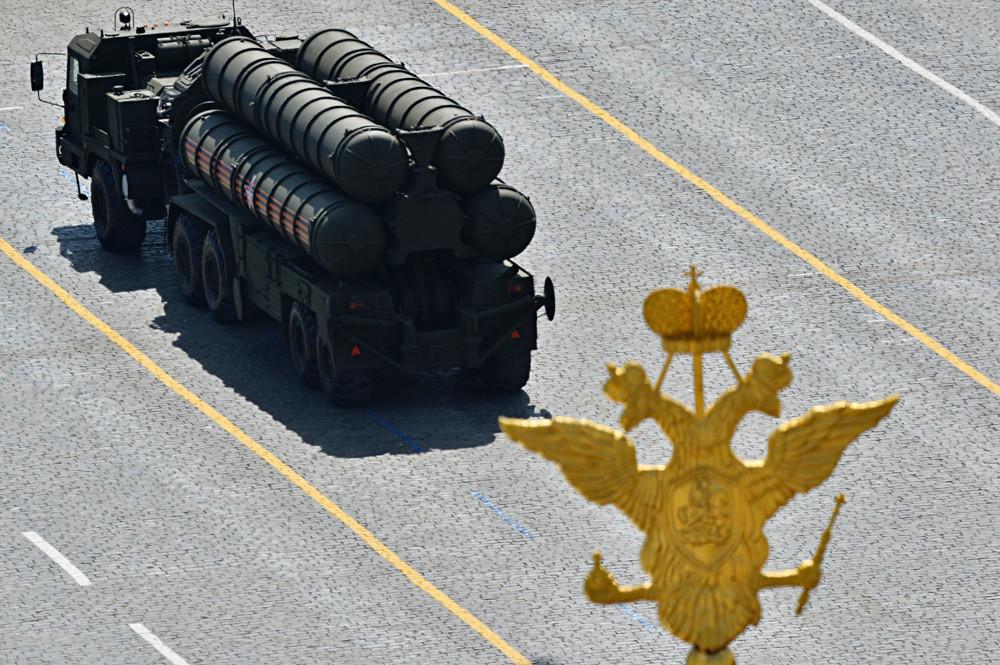 Un S-400 lors d'un défilé militaire