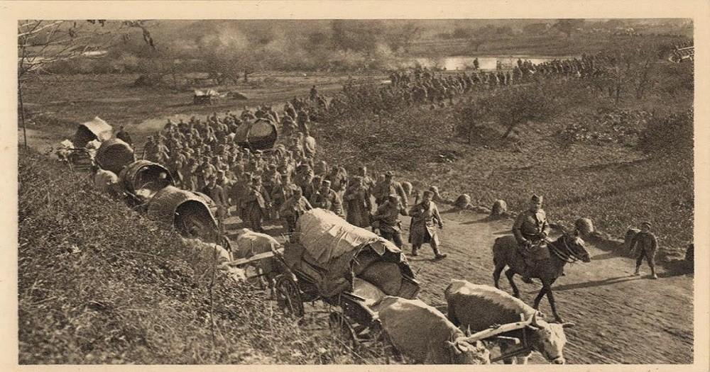 Повлачење српске војске долином Мораве
