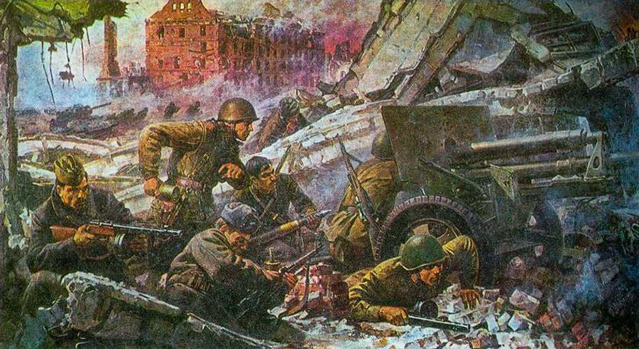 """Слика """"У борбама за Стаљинград""""."""